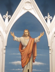 Reredos with Ascension by Max Autenrieb, Trinity Lutheran, Worden IL